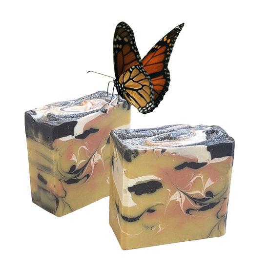 Butterfly Flower Bar Soap   4.5 oz