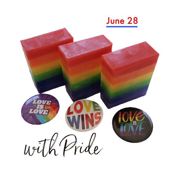 With Pride Rainbow VEGAN Glycerin Soap  