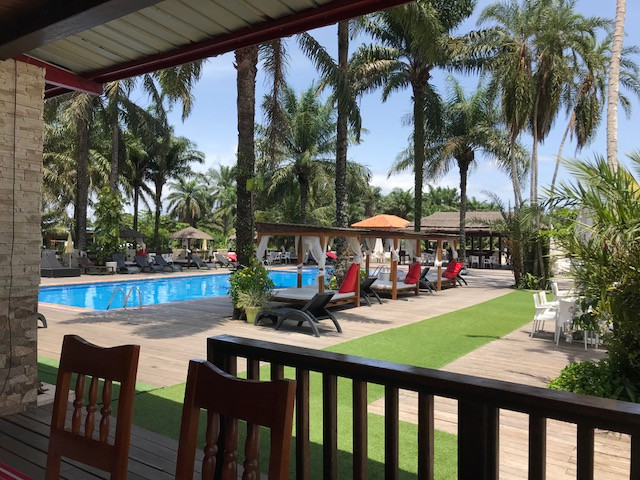 The pool at La Ferme Beach Resort