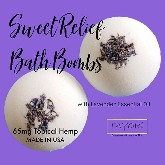 "65 mg CBD Bath Bombs with Lavender | 2.5"" diameter"