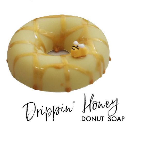 Drippin Honey Vegan Donut Soap   3.5 ozs