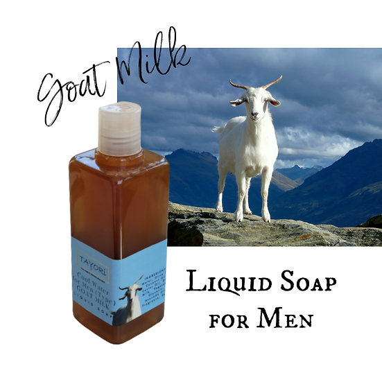 Cool Water (type) Liquid Soap for Men with Goat Milk | 2.5 ozs or 10 ozs