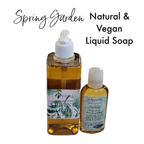 Natural Vegan Liquid Soap - Spring Garden | 2.5 oz or 10 oz