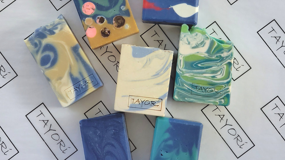 Shades of Blue Gift Box | 7 bars plus $10 Gift Certificate