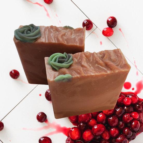 Spiced Cranberry Bar Soap  | 4 oz or 4.5 oz