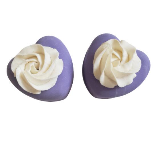 Lavender Vegan Heart Soap   4 ozs