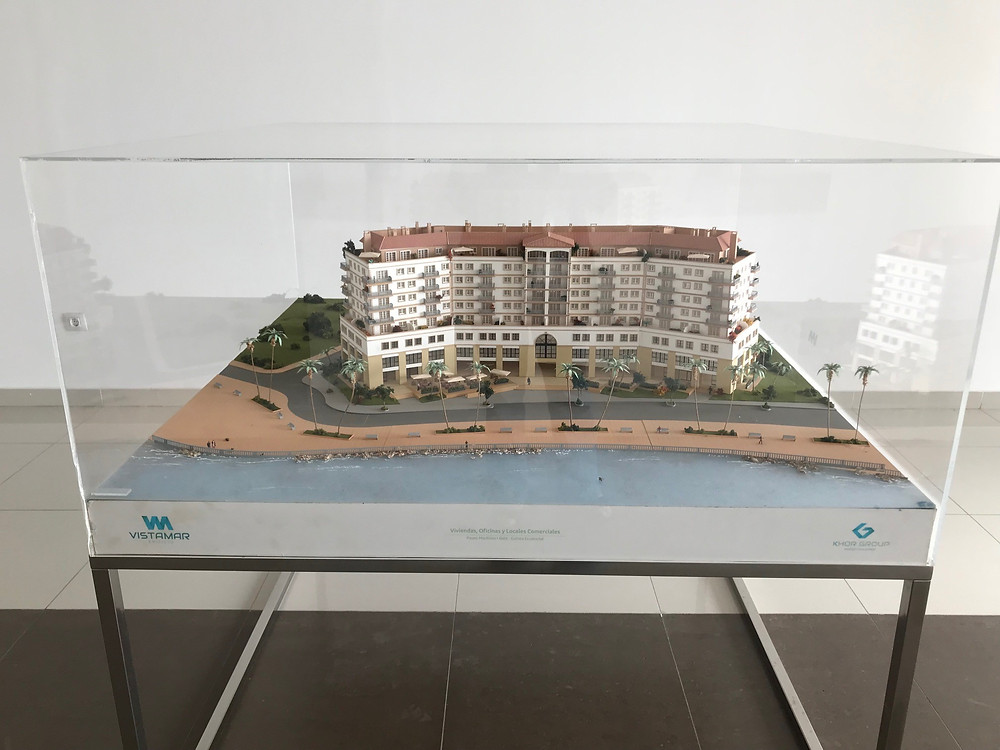 Architects model of the apartment complex