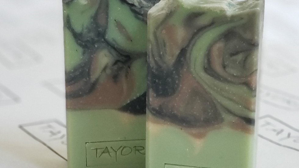 Green Tweed Meets Camo Bar Soap | 4.5 ozs