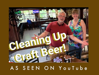 Screenshot of TAYORi's owner and Crafty Coaster in interview about beer soap