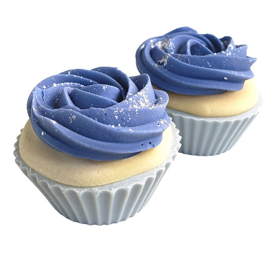Blue Rosette Soap Cupcake  | 3 ozs or 3.5 ozs