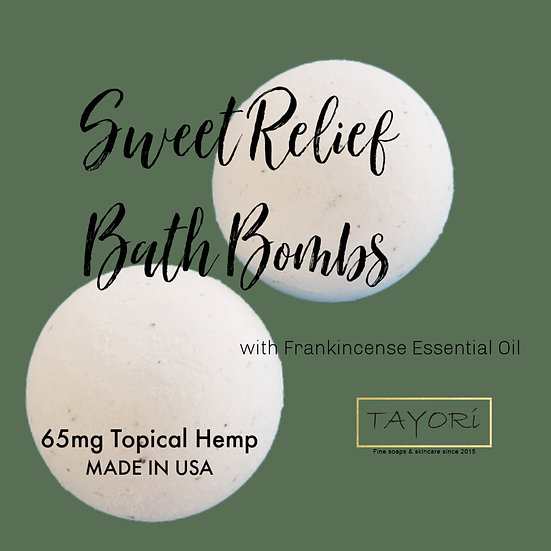 """65 mg CBD Bath Bombs with Frankincense and Lavender 