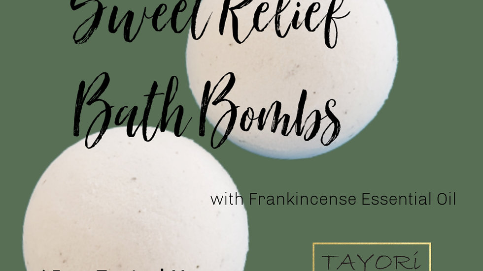 "65 mg CBD Bath Bombs with Frankincense and Lavender | 2.5"" diameter"