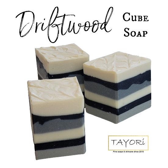 Driftwood VEGAN Cube Soap   3.5 ozs