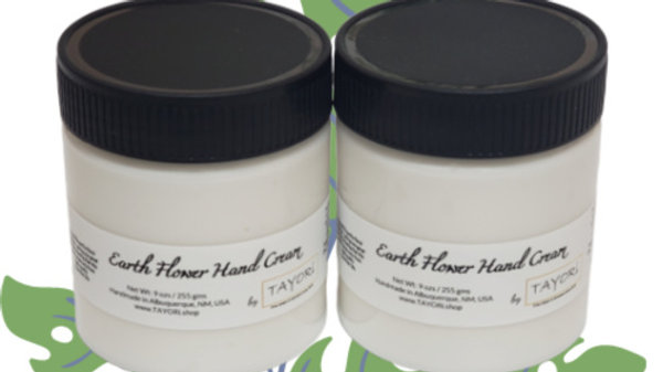 Earth Flower Hand Cream   9 ozs