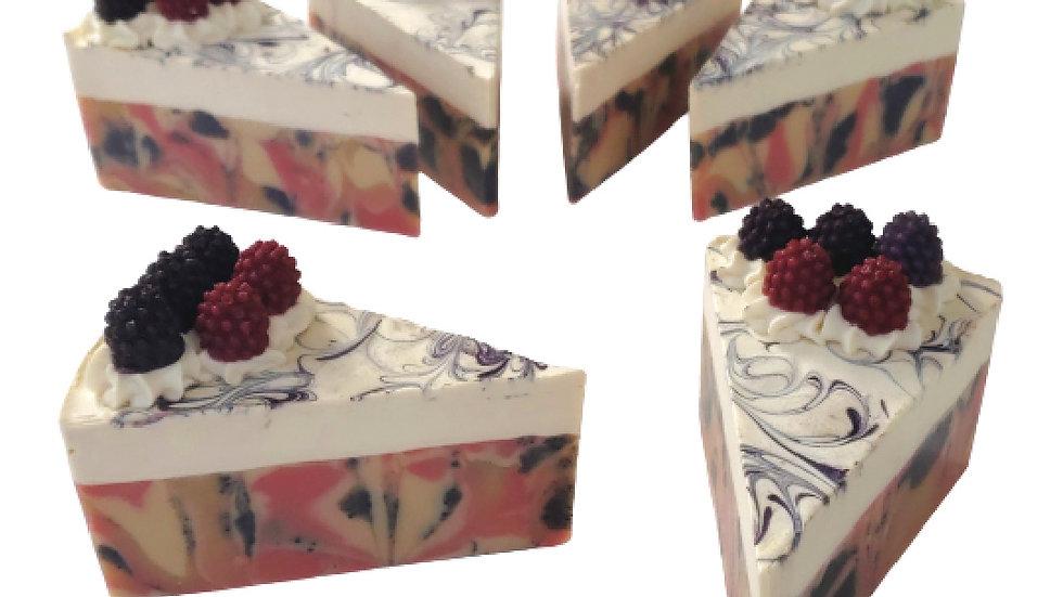 Black Raspberry Vanilla Soap Cake | 4 oz or 4.5 oz