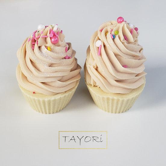 Sparkling Floral Soap Cupcake   6+ ozs