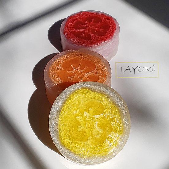 Summer Fruit Vegan Loofah Soap  | 4+ ozs