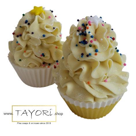 Lemon Yellow Cupcake Soap   2 styles