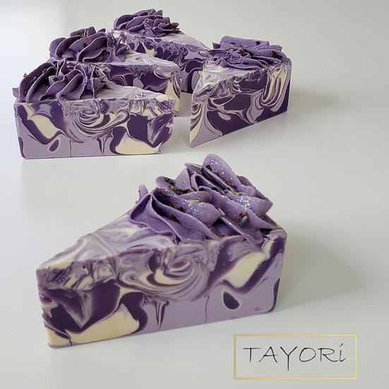 Lavender Soap Cake Purple Frosting    3.5 oz or 4 oz