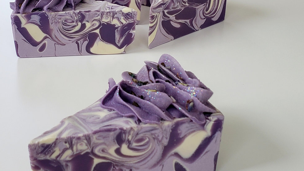 Lavender Soap Cake Purple Frosting  | 3.5 oz or 4 oz