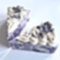 Lavender Essential Oil Soap Cake White