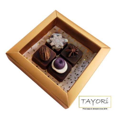 Fancy Chocolate Fudge Soaps - Gold Box