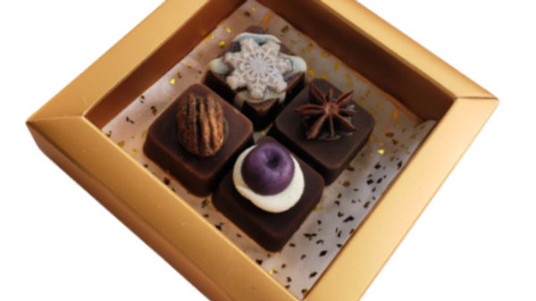 Fancy Chocolate Fudge Soaps - Gold Box