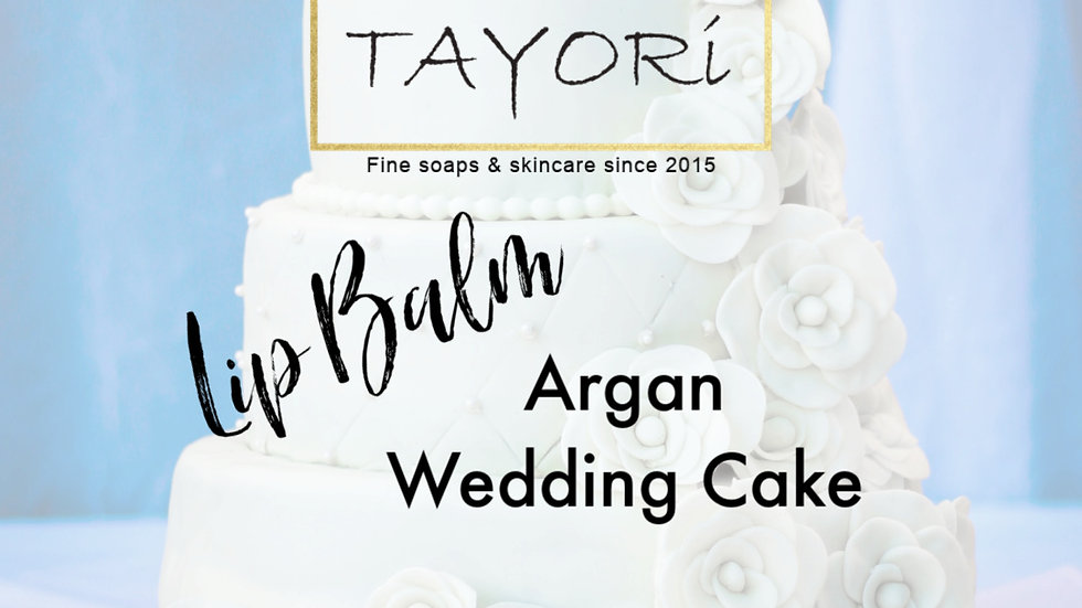 ARGAN WEDDING CAKE LIP BALM | 0.15 oz