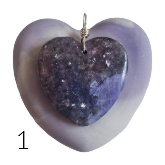 Purple Stone Heart and Soap