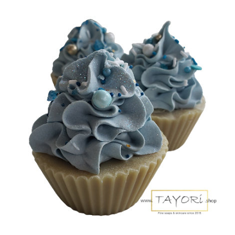 Blue Apple Goat Milk Soap Cupcake | 3 ozs or 3.5 ozs or 4 oz