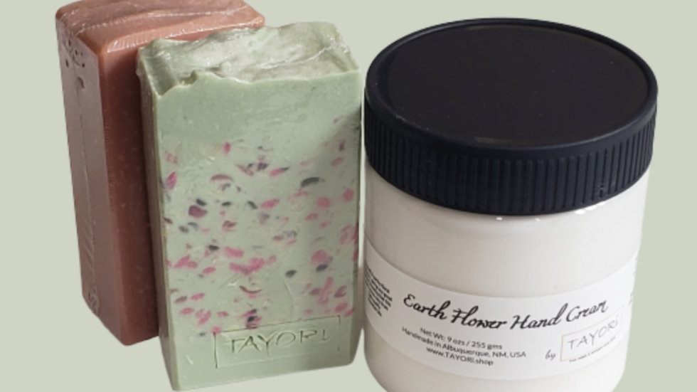 Hand Care Package | 2 natural soaps & hand cream