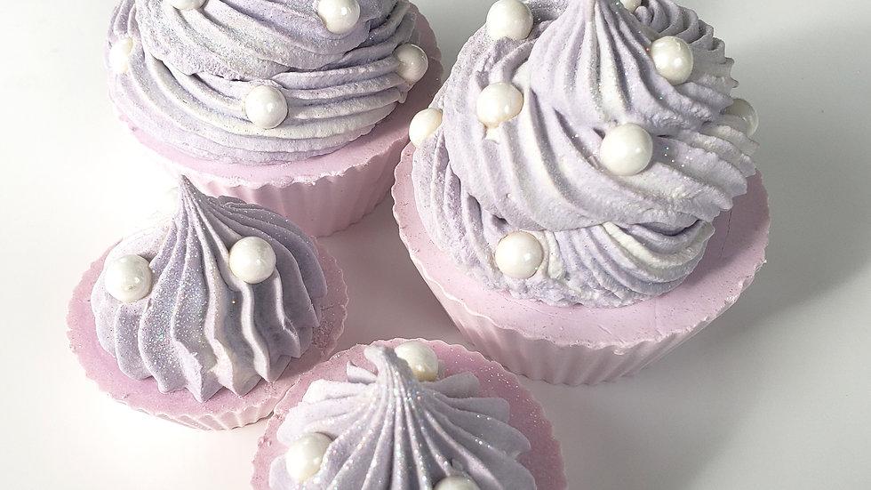 Lavender Pearl Cupcake Soap   3 oz