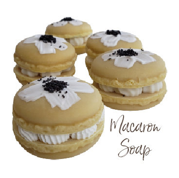 Honey Daisy Macaron Vegan Soap | 2 ozs