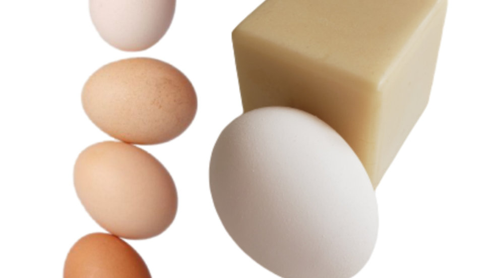 ORGANIC EGG SOAP CUBE   4.5 oz