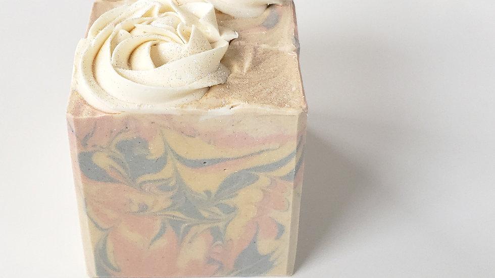 Rosette Pastel Vegan Soap   5 ozs