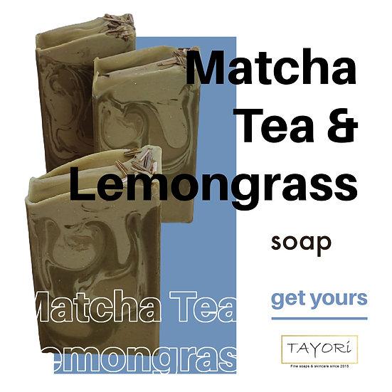 Matcha Tea & Lemongrass Soap   4 ozs