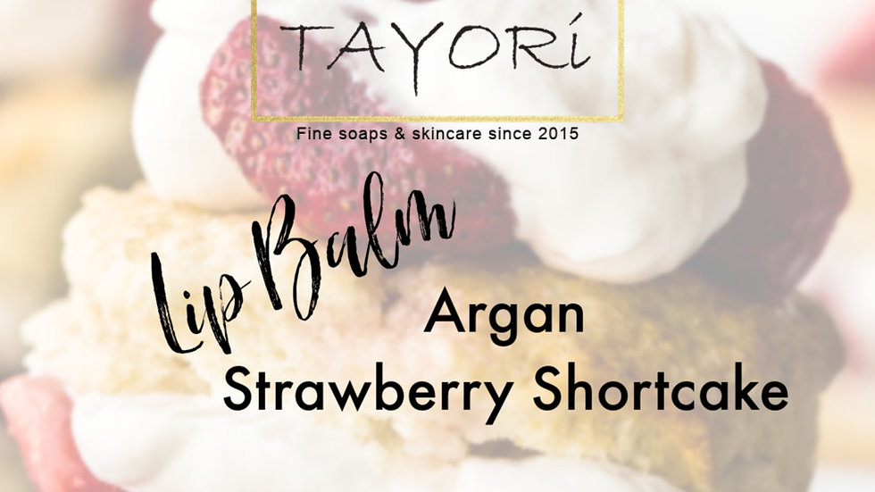 ARGAN STRAWBERRY SHORTCAKE LIP BALM | 0.15 oz