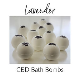 Lavender CBD Bath Bombs