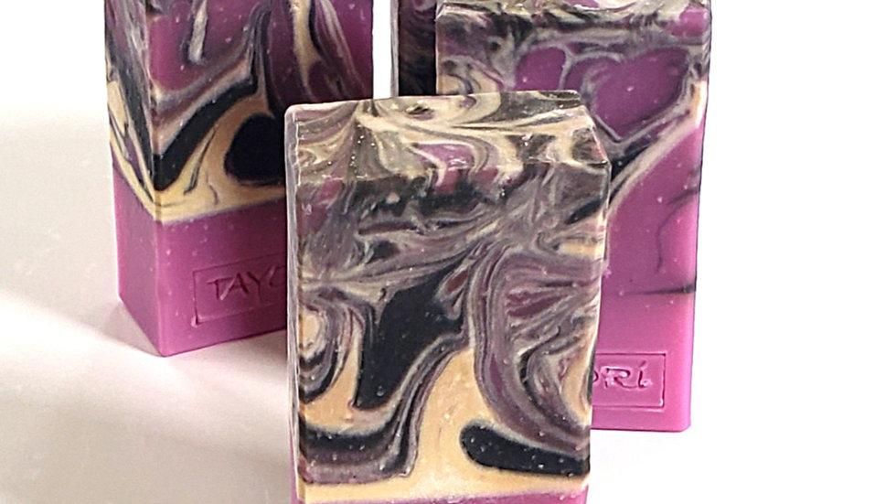 Summer Berry Swirl Soap   4.5 ozs