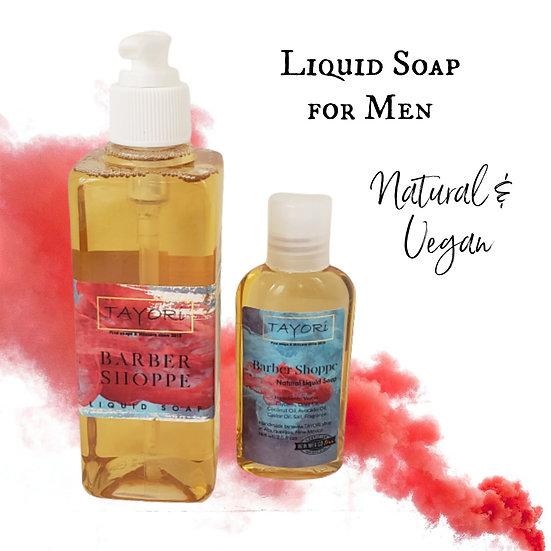 Natural Vegan Liquid Soap - Barber Shoppe   Various sizes