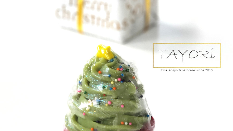 Christmas Tree Cupcake Soap | 4+ oz