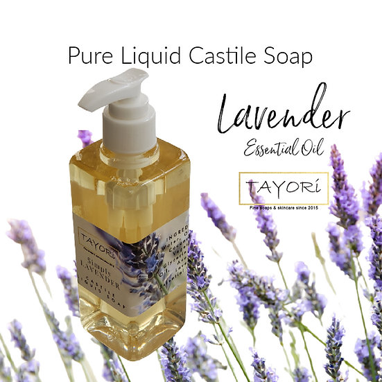 Natural Vegan Liquid Soap - Simply Lavender | Various sizes