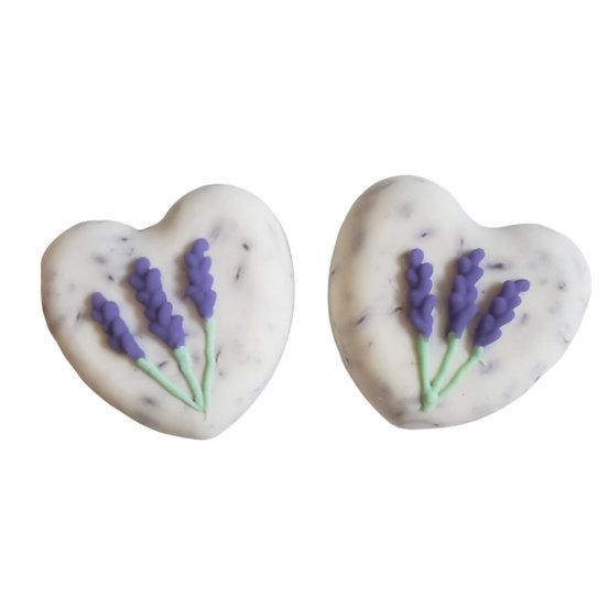 Lavender Flower VEGAN Heart Soap | 4 ozs
