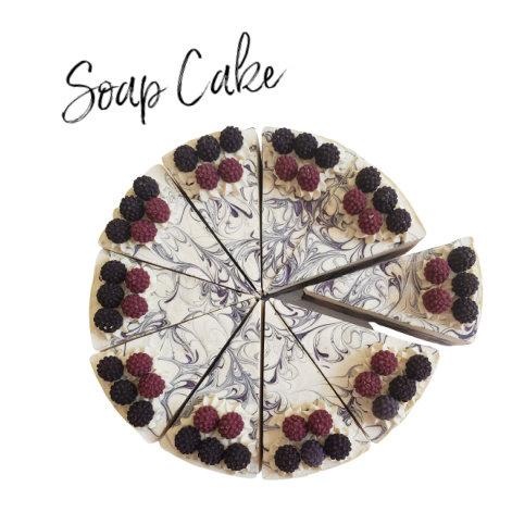Black Raspberry Vanilla Soap Cake |  4 oz