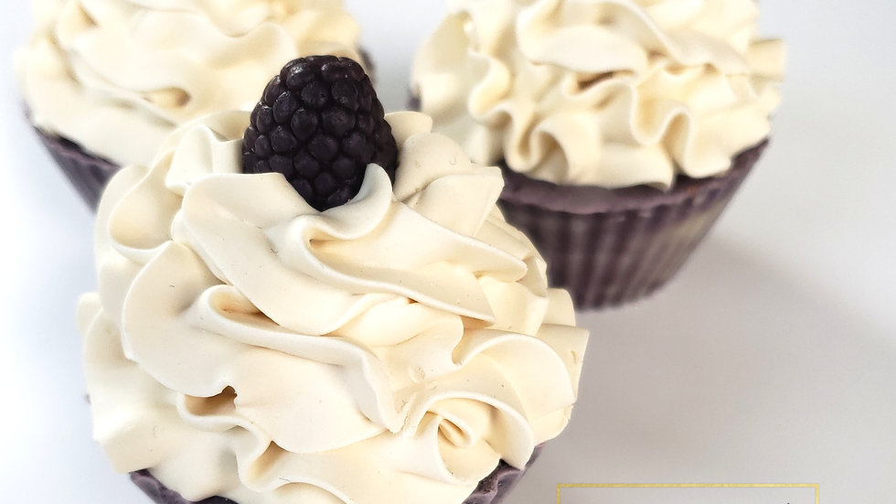 Black Raspberry Vanilla Cupcake Soap | 3.5 oz and 4 oz