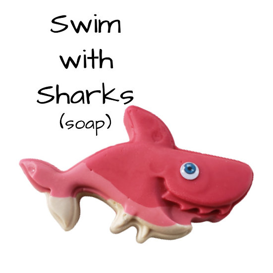 Red Shark Bar Soap   10.5 oz