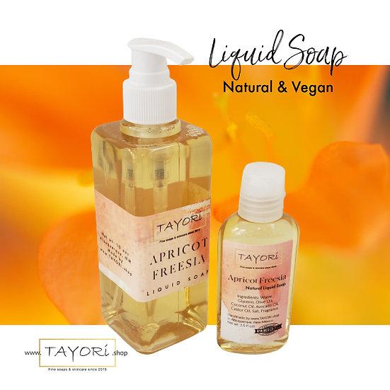 Natural Vegan Liquid Soap - Apricot Freesia | Various size options