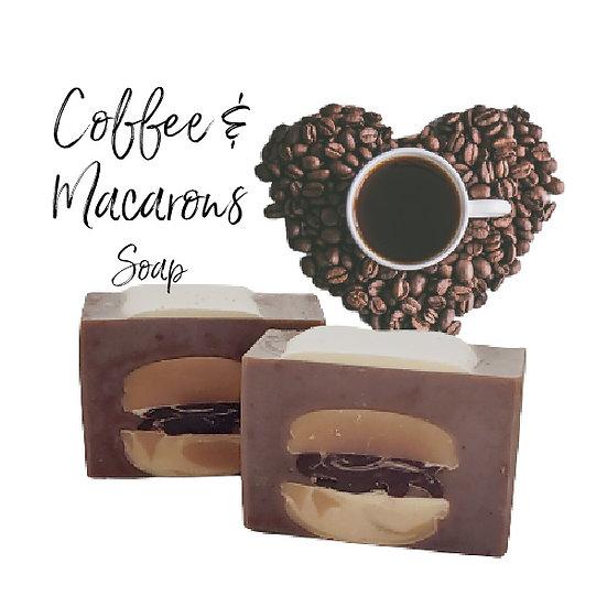 Coffee & Macarons Vegan Coffee Soap   3+ ozs