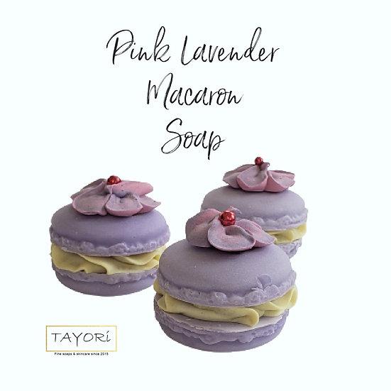 Pink Lavender Vegan Macaron Soap | 2 ozs