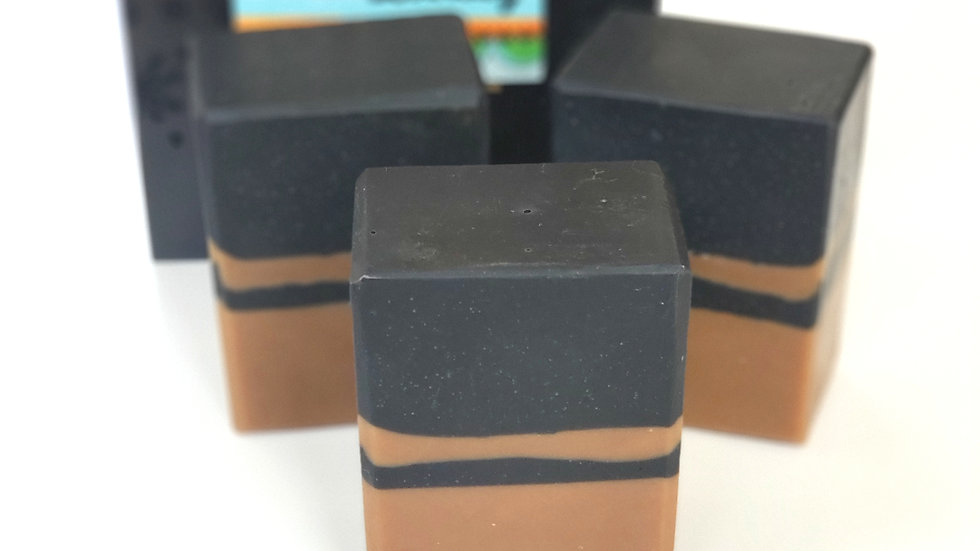 Black & Tan Pinstripe Bar Soap | 5+ ozs and 5.5+ ozs
